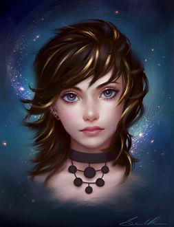 Фото Красивая девушка с серыми глазами, by Selenada