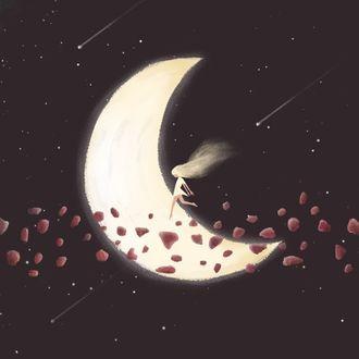 Фото Девочка шагает по луне
