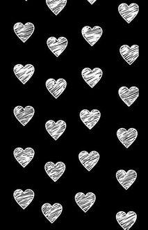 Фото Сердечки на черном фоне