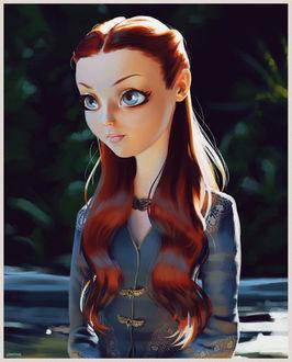 Фото Санса Старк / Sansa Stark из сериала Игра престолов / Game of Trones, by lenadrofranci