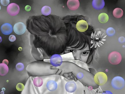 Фото Девушка и мальчик обнимают друг друга, by Saryetta86
