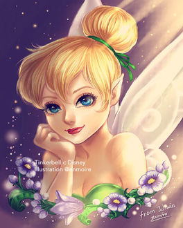 ���� ����-���� / Tinkerbell ������� �� ����������� ��� / Fairy, by Enmoire