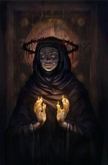 Фото Улыбающийся Сатана с терновым венком собственной персоной