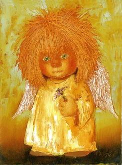 Фото Солнечный ангел-малыш с букетиком цветов в руках, фото Galina Chuvilyaeva / Галина Чувиляева