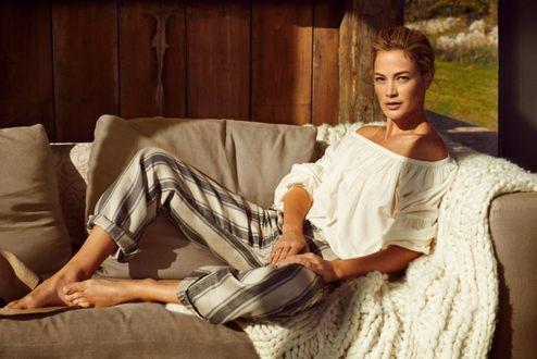 Фото Супермодель Carolyn Murphy / Кэролин Мерфи для рекламы весенне-летней коллекции 2016, итальянский бренд Stefanel, фотограф Dan Martensen