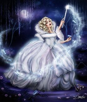 Фото Волшебница с палочкой