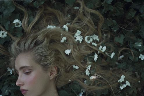 Фото Девушка с цветами на волосах, Marta Bevacqua Photography
