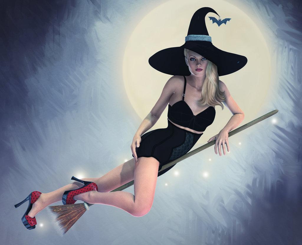 косметику картинки с ведьмочками на метле улучшения