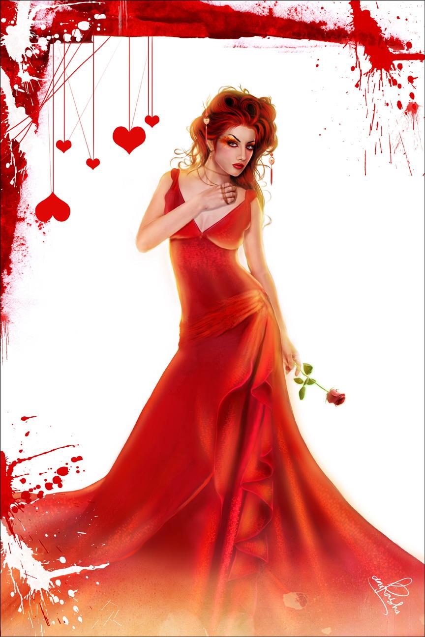 Девушка с розой  RabStolnet