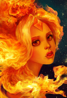 ���� Flame Princess / �������� ��������� �� ����������� Adventure Time / ����� �����������, by AnnikeAndrews