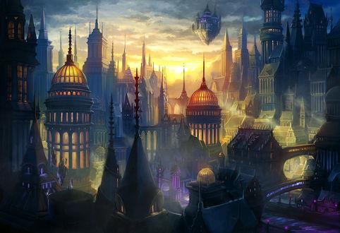 Фото Сказочный город, art by Alayna
