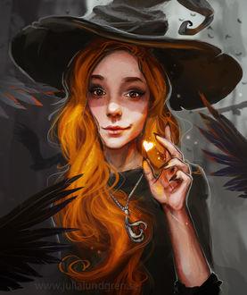 Фото Рыжеволосая ведьма с сердечком, by Julia Lundgren