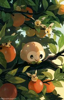 ���� Rowlet / ������ �� ���� Pokemon / �������, by bluekomadori