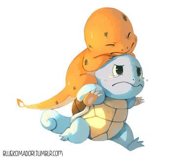 ���� Charmander / ��������� � Squirtle / ������� �� ���� Pokemon / �������, by bluekomadori