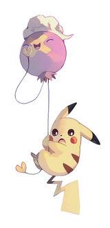 ���� Drifloon / ������� � Pikachu / ������ �� ���� Pokemon / �������, by bluekomadori