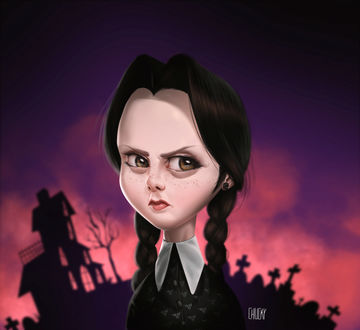 ���� ������ ������ / Wednesday Addams �� ������ Addams Family / ������� ������, by fubango