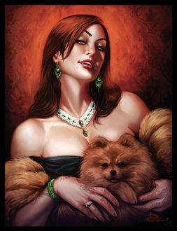 Фото Вампирша с собачкой