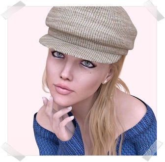 Фото Милая голубоглазая девушка в кепке