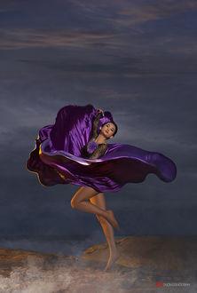 Фото Ташцующая девушка в фиолетовом платье, фотограф duong quoc dinh