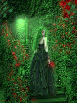 Фото Девушка в подземелье, где растет необыкновенный сад, The secret garden / Потаенный сад, by Jeanna Dark