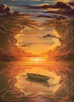 Фото Лодка на закате, работа Jeffrey Smith