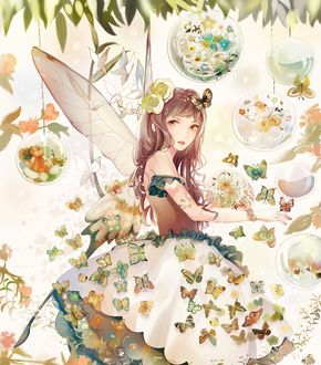 Фото Крылатая девушка и бабочки, by Yoncco