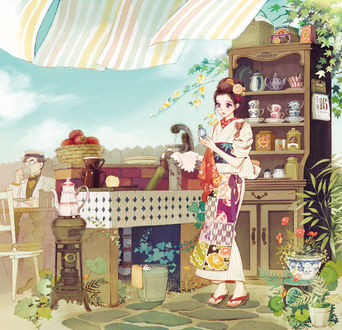 ���� ������� � ������ ������ � ���� �������, ������� � ����� ���� �� ������, art by Matsuo Hiromi