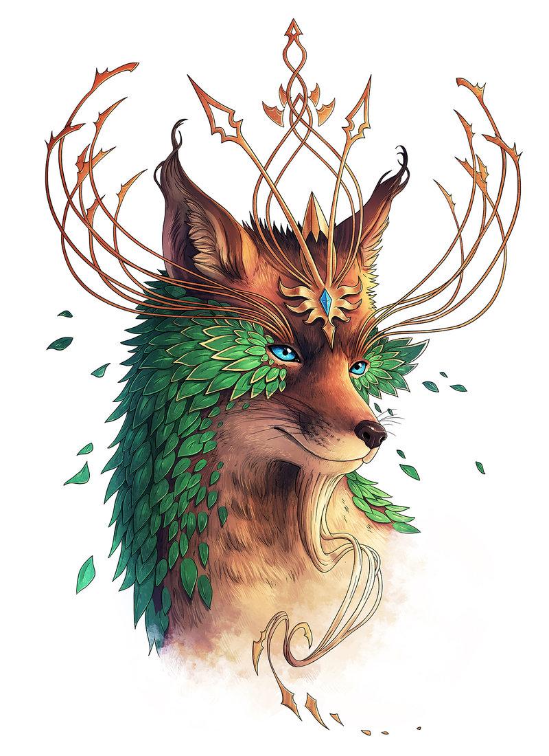уход растением картинка лиса с короной кто