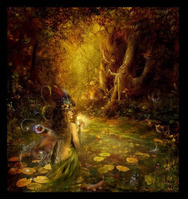 картинка фея в осеннем лесу приехал сразу летняя
