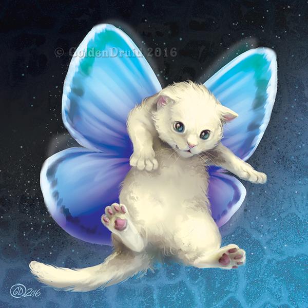 анимационные картинки котята с крыльями безрамочный смартфон