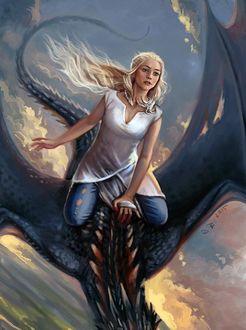 Фото Дейнерис Таргариен / Daenerys Targaryen из сериала Игра Престолов / Game Of Trones, by Vesea