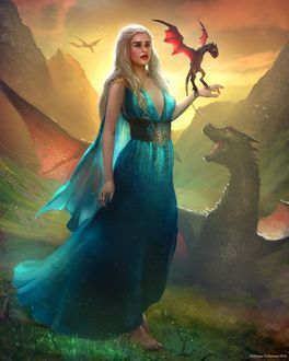 Фото Дейнерис Таргариен / Daenerys Targaryen из сериала Игра Престолов / Game Of Trones, by Phil-G-Ramsay