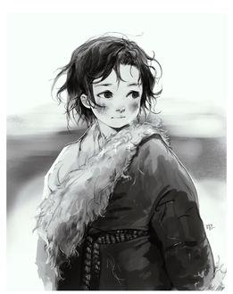Фото Милая девочка, работа Тибетский ребенок, by Claparo-Sans