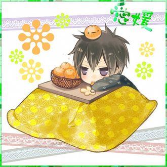 Фото Чиби Hibari Kyoya / Хибари Кея кушает апельсины, из аниме Репетитор-киллер Реборн! / Katekyo Hitman REBORN