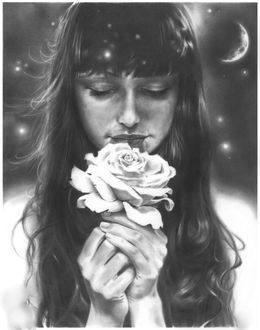 Фото Девушка с розой в руке, by dmkozicka