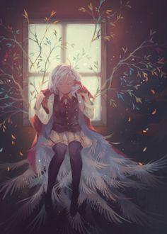 Фото Девушка, под плащом которой множество крыльев, by Nyanfood
