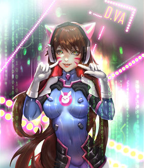���� D. VA / ����� ��� �� ���� Overwatch / �����, by Sangrde