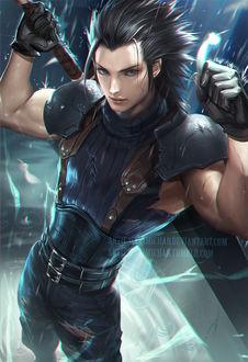 ���� Zack Fair / ��� ���� �� ���� Final Fantasy VII / ��������� �������� VII, art by Sakimichan
