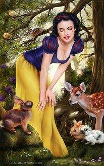 ���� ���������� / Snow White �� ������ Snow White and the Seven Dwarfs / ���������� � ���� ������, by Inna-Vjuzhanina