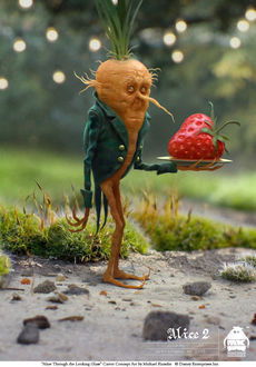 Фото Alice Through the Looking Glass Carrot Concept art by Michall Kutsche / Морковь из сказки Алиса в Зазеркалье, арт Майкла Кутше