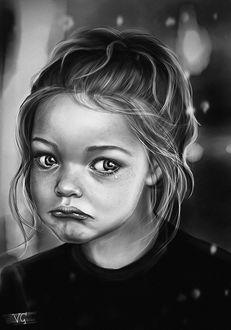 Фото Девочка с грустным, плачущим лицом, by Veronika Gering