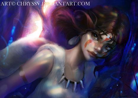 ���� ��� / San �� ����� ��������� �������� / Princess Mononoke, by chryssv