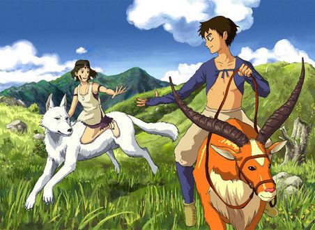 Фото Princess Mononoke and Ashitaka / Принцесса Мононоке и Ашитака, аниме Princess Mononoke / Принцесса Мононоке