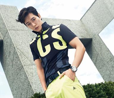 Фото Южнокорейский актер Пак Хэ Джин / Park Hae Jin позирует в спортивной одежде