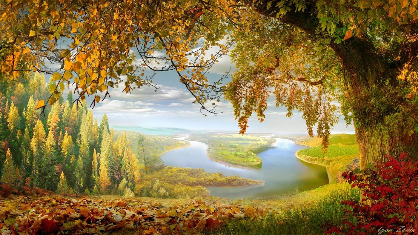Фото Осенний пейзаж с извилистой рекой, фотограф Igor Zenin