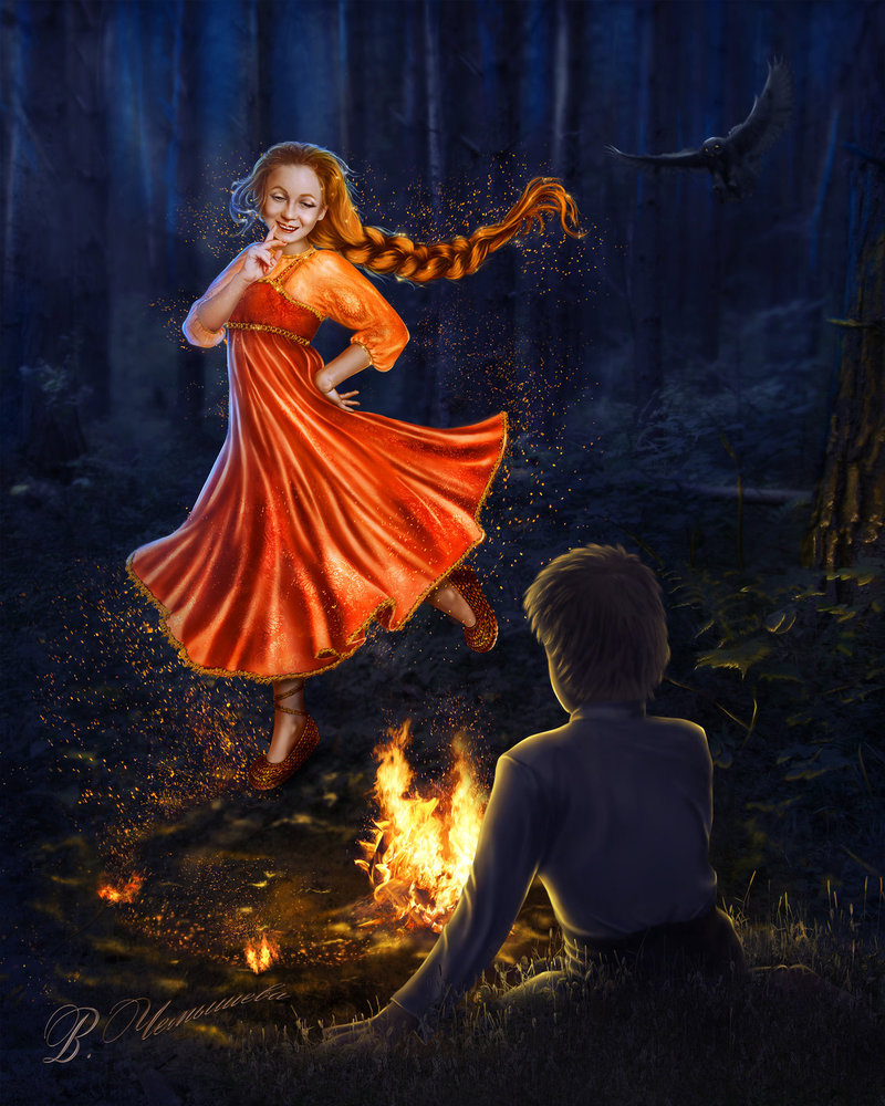 Сказки бажова картинки огневушка поскакушка, новым годом артемий