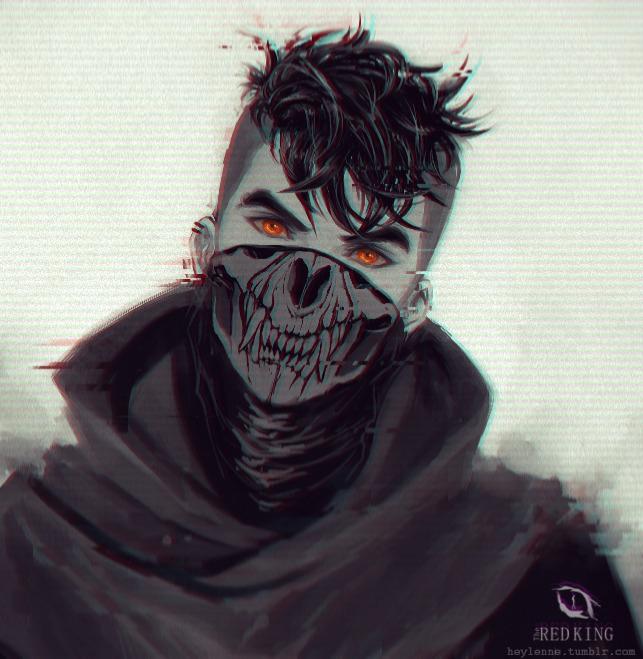 Нарисованный пацан в маске
