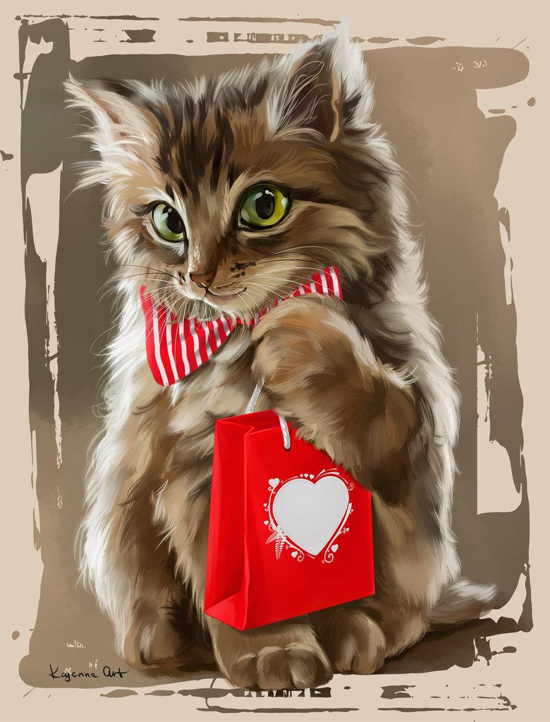 Открытках для, открытка с днем рождения с котенком женщине