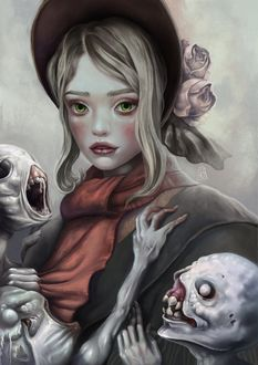 Фото The Doll / Кукла с монстрами из игры Bloodborne / Бладборн / Порождение крови