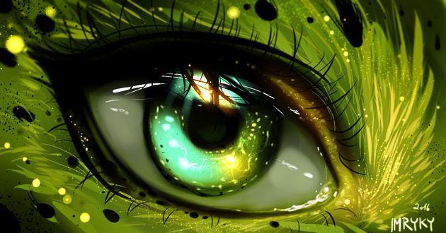 Фото Глаз зеленого цвета, by ryky